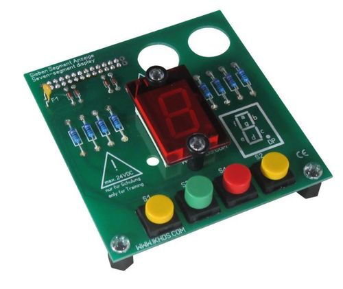 Plug-on module Seven-segment display